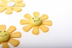 липучки декоративная липучка флористическая - 2394 солнышко (24шт в уп) 2495