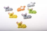 Декоративная Липучка флористическая - 4486 Мышка (24шт в уп)