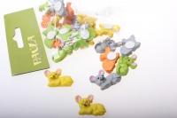 липучки декоративная липучка флористическая - 4486 мышка (24шт в уп) 2492