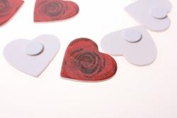 липучки декоративная липучка флористическая - 4595 наклейка сердце с розой (24 шт. в уп.) 28992600