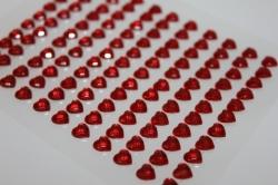 Декоративная Липучка флористическая - 8728  Наклейка Сердца граненые красн. 5мм (121шт. в.уп.)