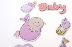 липучки декоративная липучка флористическая - 9323 наклейка новорожденный розовый (6шт. в уп. 3031