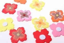 липучки декоративная липучка флористическая - 9393 наклейка цветок (24 шт. в уп.) 1781