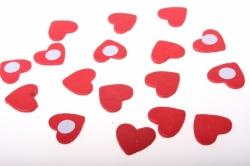 Декоративная Липучка флористическая - Сердце красное (24шт)