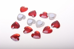 липучки декоративная липучка флористическая - сердце среднее пласт. гранен. 1,5 см  (24шт) 1664