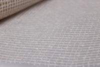 """декоративная сетка """"рогожка натуральная"""" белая  (53см*5,5м) 4430"""