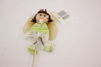 декоративная вставка девочка - зеленая psb-01