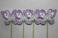 Декоративная Вставка флористическая - 1136 Вставка Бабочка лаванда в пластиковой коробке (24 шт в уп) 2014г