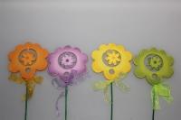 вставки декоративная вставка флористическая - 1909 цветок двойной (12 шт) 7171