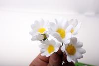 Декоративная Вставка флористическая - 4056 Цветочек на пике (12шт)