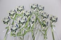 вставки декоративная вставка флористическая - 4231 вставка сердце с бабочкой винтаж (12шт в уп) 7461
