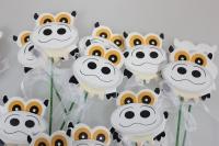 декоративная вставка флористическая - 5004 вставка корова в пластиковой коробке (24шт в уп) 7433