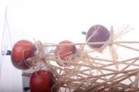 Декоративная Вставка флористическая - 5424 Вставка Яблоки в коробке (24шт в уп)