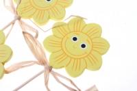 вставки декоративная вставка флористическая - 5784 вставка солнышко с улыбкой (12шт) 1771