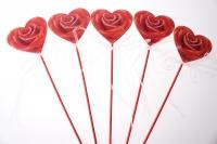 Декоративная Вставка флористическая - 58868 Вставка Сердце с розой (24 шт. в уп.)