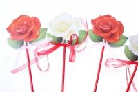вставки декоративная вставка флористическая - 8899 вставка роза с органзой (24 шт.в уп.) 28992591