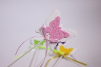 декоративная вставка флористическая - бабочка с флоком 30см (12шт в уп) (код 8180)