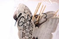 декоративная вставка флористическая - чайник деревянный 30см (12шт в уп) (код 6733)