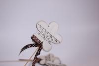 декоративная вставка флористическая - цветок деревянный 30см (12шт в уп) (код 6818)