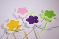 Декоративная Вставка флористическая - Цветок с фетром  30см (12шт в уп) (Код 8173)