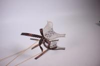 декоративная вставка флористическая - птичка деревянная 30см (12шт в уп) (код 6740)