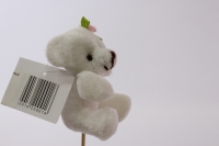 декоративная вставка мишка с бантиком - белый psb-02
