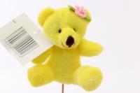Декоративная Вставка Мишка с бантиком - желтый PSB-02