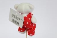 декоративная вставка мишка с бантиком - в комбинезоне psb-02