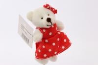 декоративная вставка мишка с бантиком - в платье psb-02