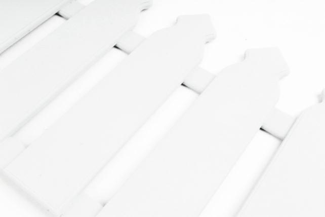 """Декоративное украшение для сада """"Забор"""" №1 (67*30) Фанера 8мм, окрашен., Белый, 1 шт.ДУкр01-02-0303"""