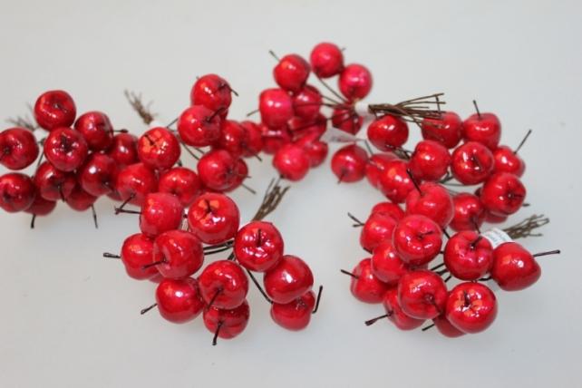искусственные фрукты декоративные искусственные фрукты - 4805 яблоки красные 2,0 см (12 пучков по 12 шт.) 7104