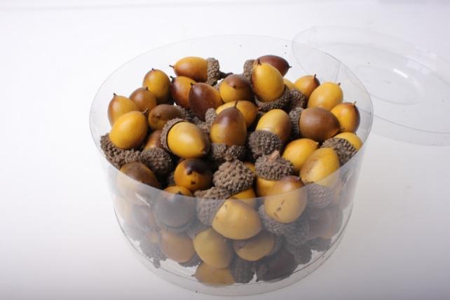 искусственные фрукты декоративные искусственные фрукты - жёлуди в пластиковой коробке (96шт) 2460