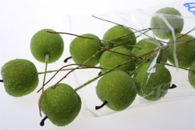 искусственные фрукты декоративные искусственные фрукты - набор яблок искусственных 3см (12шт) зеленое яблоко ph10932 6085