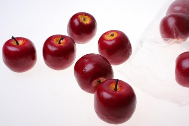 искусственные фрукты декоративные искусственные фрукты - набор яблок искусственных 4.5см (12шт) красное яблоко gbd7379d1 6087