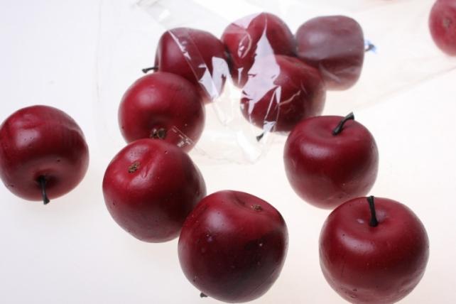искусственные фрукты декоративные искусственные фрукты - набор яблок искусственных 4.5см (12шт) темно-красное яблоко gbd7379d5s 6088
