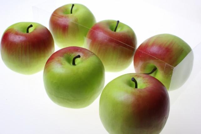 искусственные фрукты декоративные искусственные фрукты - набор яблок искусственных 8см (6шт) красно-зеленое яблоко gbd7363-2p 6090
