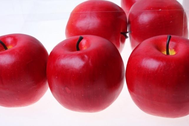 искусственные фрукты декоративные искусственные фрукты - набор яблок искусственных 8см (6шт) красное яблоко  gbd7363-1p 6089