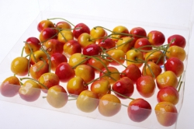 Декоративные Искусственные ягоды - Набор черешни искусственной 2см (48шт) красно-желтая Черешня GBD7813-3P