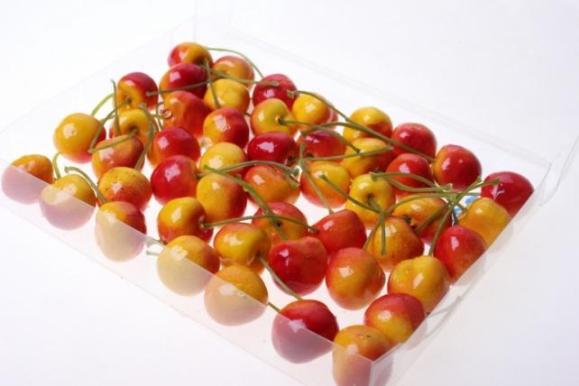искусственные фрукты декоративные искусственные ягоды - набор черешни искусственной 2см (48шт) красно-желтая черешня gbd7813-3p 6082