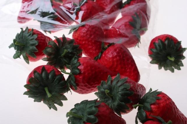 искусственные фрукты декоративные искусственные ягоды - набор клубники искусственной 4,5 см (24шт) клубника gbd7768d1 6077
