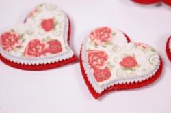 Декоративные наклейки - 6610 Наклейка Сердце  2,5см (6шт в уп)