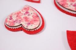 Декоративные наклейки - 6658 Наклейка Сердце с цвет. 2,5см (6шт в уп)