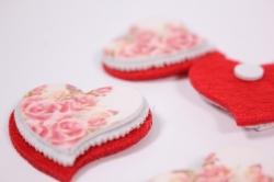 Декоративные наклейки - 6672 Наклейка Сердце 2,5см (6шт в уп)