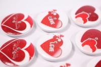 Декоративные наклейки - 6719  Наклейки Пуговицы на листе 2,5см (12шт в уп)