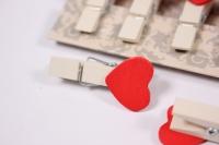 Декоративные прищепки - 8989 Прищепка  Сердце  (10шт в уп.) ADY7