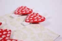 Декоративные прищепки - 9054 Прищепка  Сердце 2,5см  (6шт.в уп.) ADY14