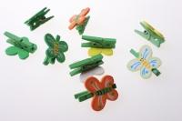 прищепки декоративные прищепки флористические - 5810 прищепка бабочка (24 шт. в уп.) 2582