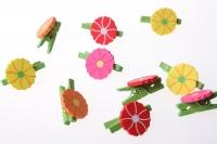 прищепки декоративные прищепки флористические - 8426 прищепка цветок (24шт. в.уп.) 2580