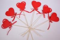 Декоративные вставки - 1871 Вставка Сердце красное  h=30см (12шт в уп)