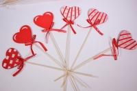 Декоративные вставки - 1888 Вставка Сердце красное  h=30см (12шт в уп)